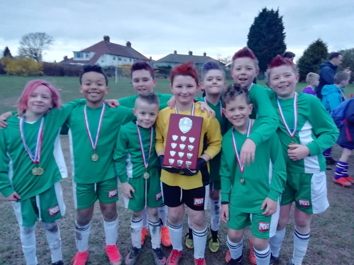 test Twitter Media - CHAMPIONS! With mad hair. Y5 in fading light ran through the opposition to be crowned South Birmingham Champions without conceding a goal and getting 11 of their own. Awesome effort. https://t.co/PF55OBMpCT
