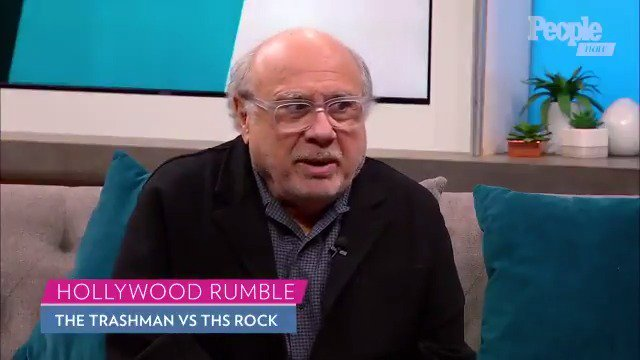 Watch: @DannyDeVito says The Trashman would crush @TheRock in wrestling match