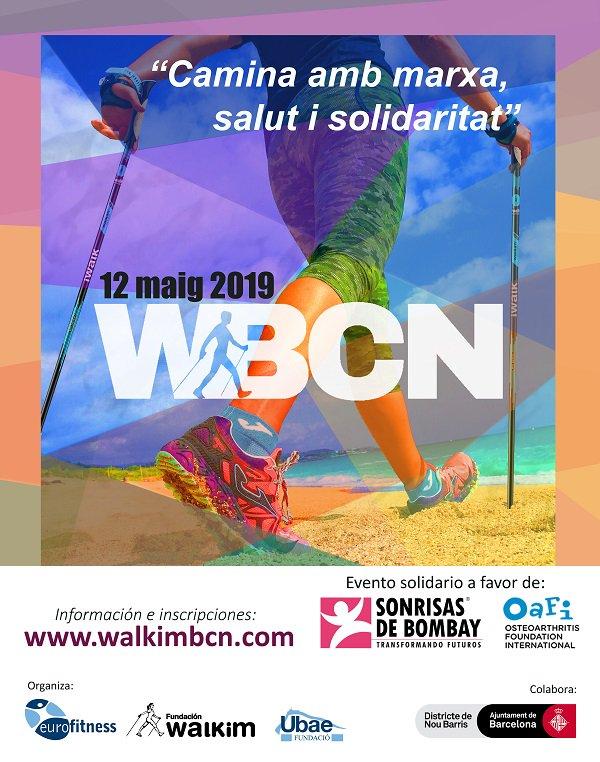 ¡Se acerca la #WalkimBCN19! 🔜 Faltan 2 meses para la 4a edición de la concentración de practicantes de #MarchaNórdica más importante de #Barcelona. 👉 📆 ¡12 de mayo! #Solidaridad Y colabora con  @OAFIFoundation y #SonrisasdeBombay @fundacionwalkim @fitnesscandrago #FundacióUbae https://t.co/5P1uRKFrt4