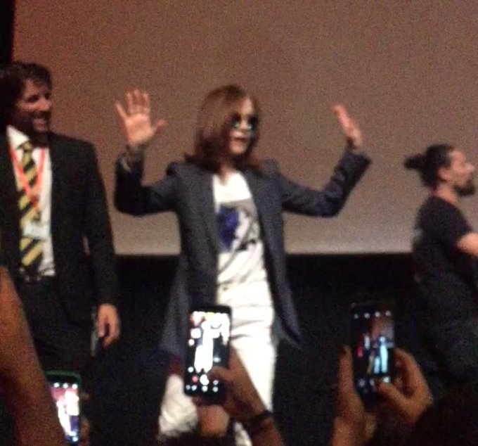 Happy birthday Isabelle Huppert, it was great seeing you   you re a diva