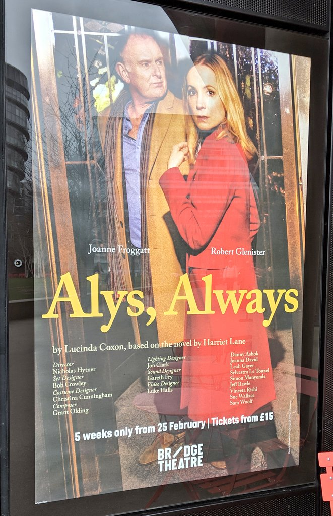 test Twitter Media - Matinee at @_bridgetheatre to see #AlysAlways with a £15 pound 'restrictive' view ticket. Sorry, but this is a bargain for the best seats and a brilliant piece of theatre and performance it was too! https://t.co/OKdSmlFKzS