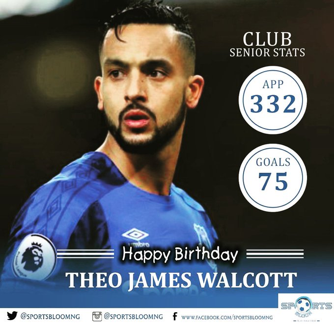 Happy Birthday Theo Walcott... Age gracefully Champ!