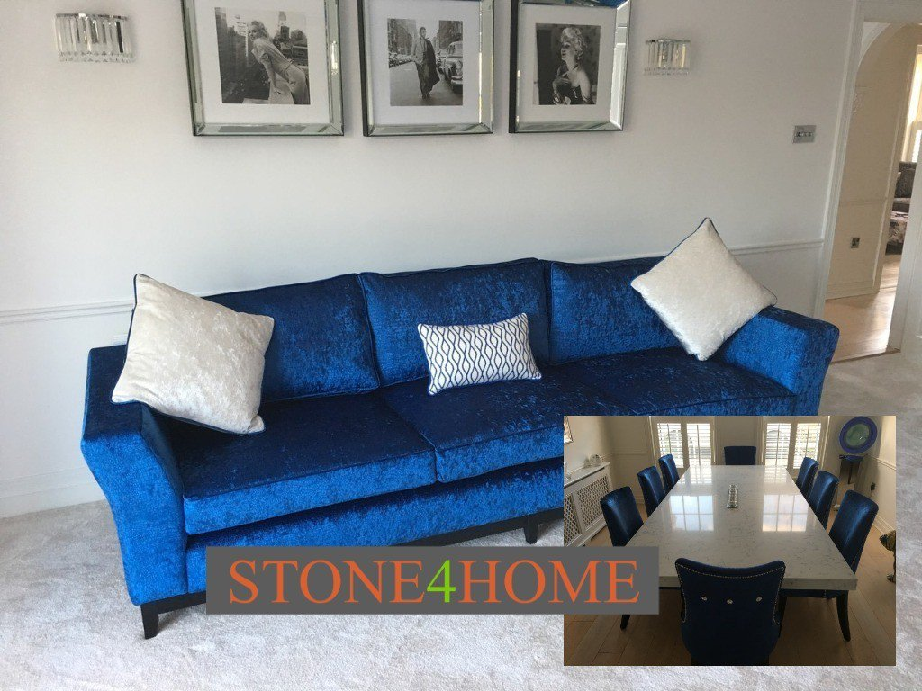test Twitter Media - Contemporary sofa made to order in Osborne & Little Limpopo fabric. Complemented by our purpose made dining chairs to match. All around a stunning Quartz Dining Table, made to required size. https://t.co/hecEHa49gv