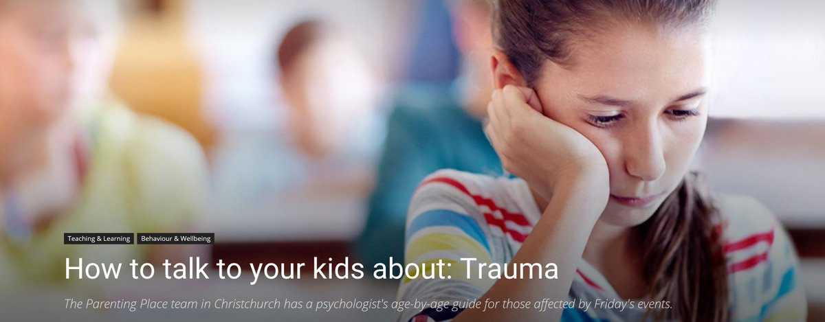 test Twitter Media - How to talk to your kids about: Trauma https://t.co/1kICT0zVt9 The Parenting Place team in Christchurch has a psychologist's age-by-age guide for those affected by Friday's events. Kia Kaha. https://t.co/22lwWyjZmX