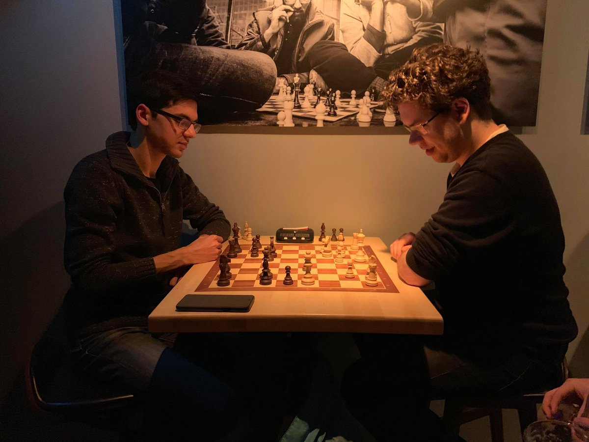 test Twitter Media - RT @gmjlh: Just your average evening at the chess pub: won a couple, lost a bunch. Thanks for the games, @anishgiri! https://t.co/YM8TtfhFDk
