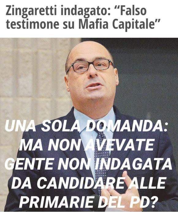 #ZingarettiIndagato