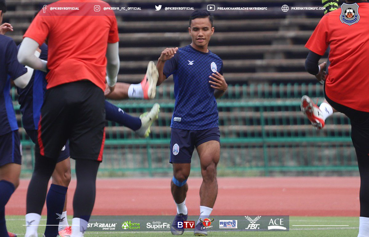 Khieng Menghour in action of U-23 Cambodia training to preparing in AFC U-23 Championship qualification https://t.co/NTXsxxR0gB