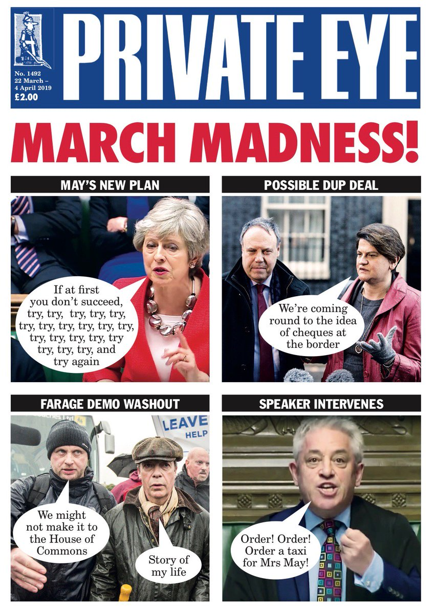 RT @PrivateEyeNews: Standing foursquare behind the prime minister: the new edition of Private Eye is out now! https://t.co/ZDnuNZXKdq