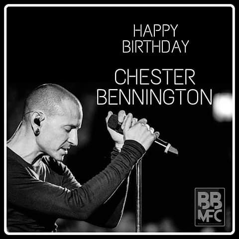 """who cares if one more light goes out? well i do...\"" happy birthday chester bennington."