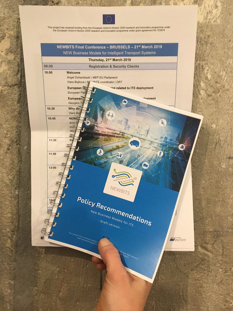 test Twitter Media - We're excited to share the @NEWBITS_CITS #Policy #Recommendations for accelerating #ITS deployment across Europe at the European Parliament tomorrow! #MEPs #Transport #BusinessModels https://t.co/n9aUjqqcpD