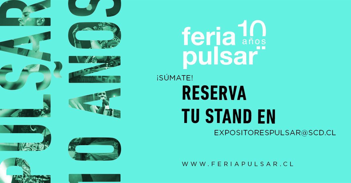 test Twitter Media - ¡Súmate como expositor a los 10 años de #FeriaPulsar2019!  Escribe a expositorespulsar@scd.cl y asegura tu módulo en la feria internacional de la música chilena 😉. https://t.co/ZB3RWuoEe0