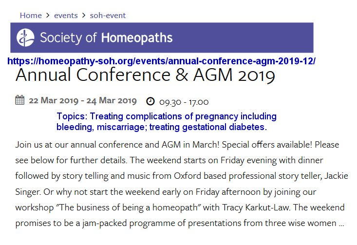 test Twitter Media - This weekend 22 - 24 March, the @sohhomeopathy to host conference re use of #homeopathy & #homeopathic treatment for issues surrounding complications of #pregnancy, #miscarriage & #gestationaldiabetes at Oxford University in the UK. #Homeopathyrocks    ▶️https://t.co/p8OOTmKhFD https://t.co/xllLr3I2ne