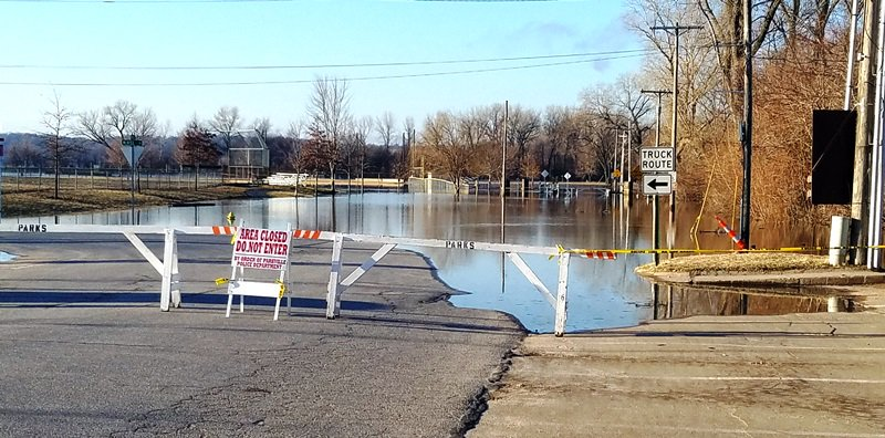 test Twitter Media - Main Street is closed at McAfee Street and all of McAfee Street is closed due to the flooding. Please obey all signs and do not enter the park when it is closed. For the most up-to-date river information visit https://t.co/Ei18LqR9Q0. https://t.co/ExuYb0OEXz