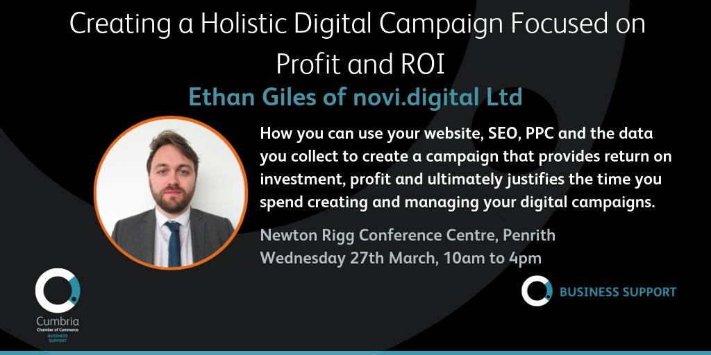 test Twitter Media - Creating a Holistic Digital Campaign Focused on Profit and ROI workshop with https://t.co/gP5YGeWzyZ on 27th March, Newton Rigg Conference Centre, Penrith @ConferencesNrc Info & booking at https://t.co/I4ACZ5LiSd @novidigital https://t.co/fpNTWU2kBN