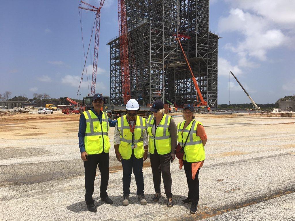 RT @C_MorinDesailly: Au Centre Spatial Guyanais , on découvre l'immense et impressionnant chantier d'Ariane 6 ! 🚀