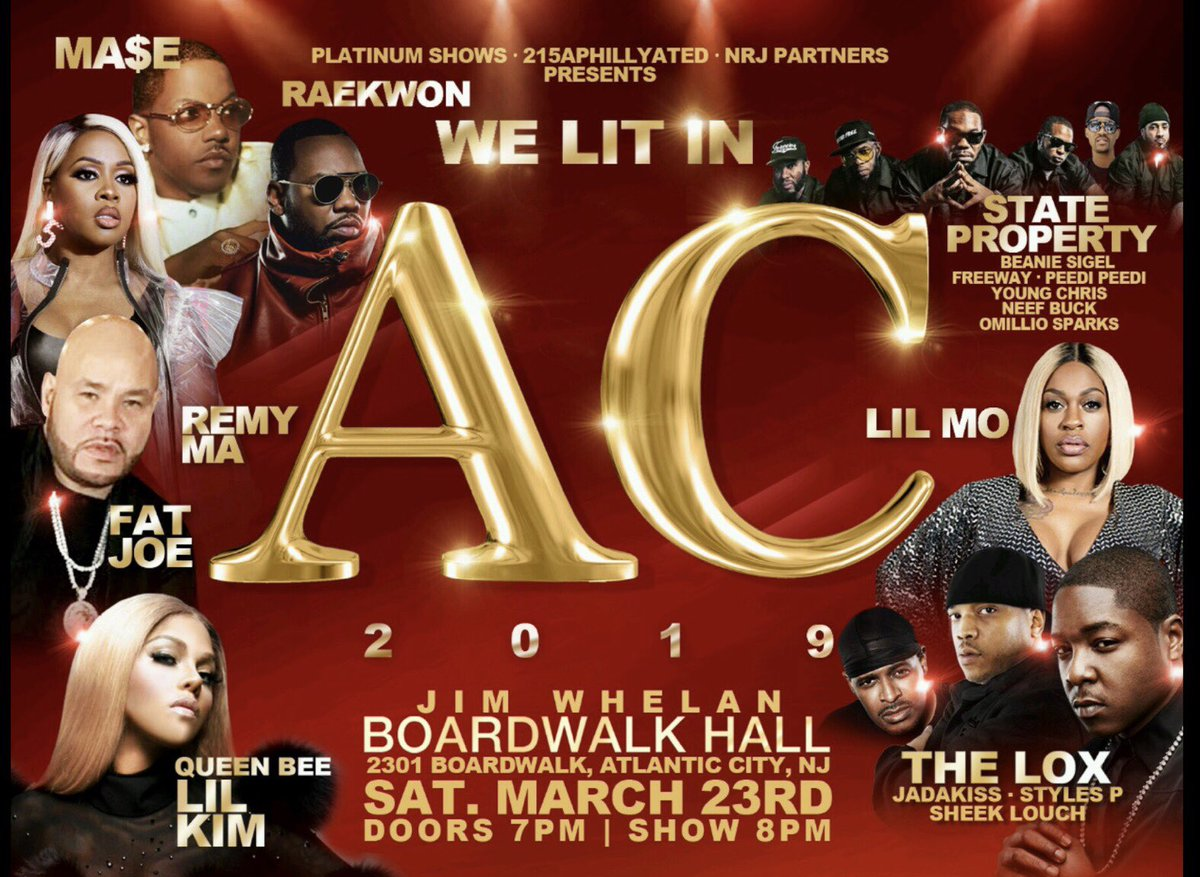 It's gone be Lit in AC ???????????? pull up we out there 3.23.19 https://t.co/Ejm5zxHrop