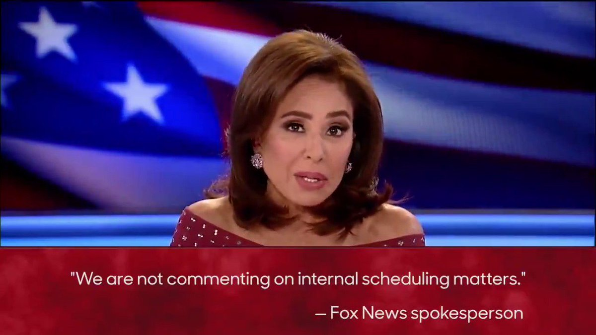 Jeanine Pirro's FoxNews show isn't coming back this week:
