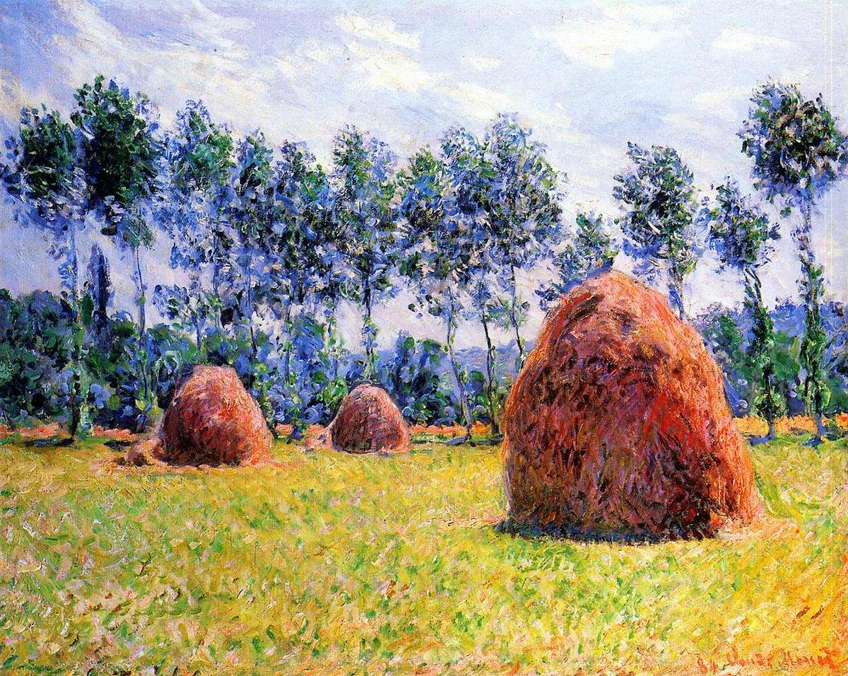 RT @artistmonet: Haystacks at Giverny, 1884 #monet #claudemonet https://t.co/iLqA8nIZXp