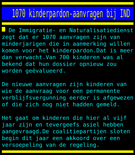 test Twitter Media - 1070 kinderpardon-aanvragen bij IND https://t.co/wXDAtj7gXv
