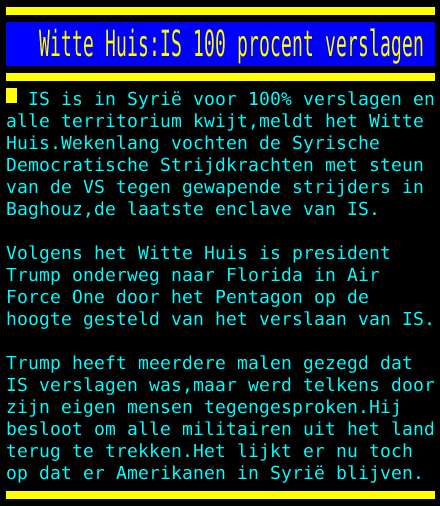 test Twitter Media - Witte Huis:IS 100 procent verslagen https://t.co/PgBVwO6xtB