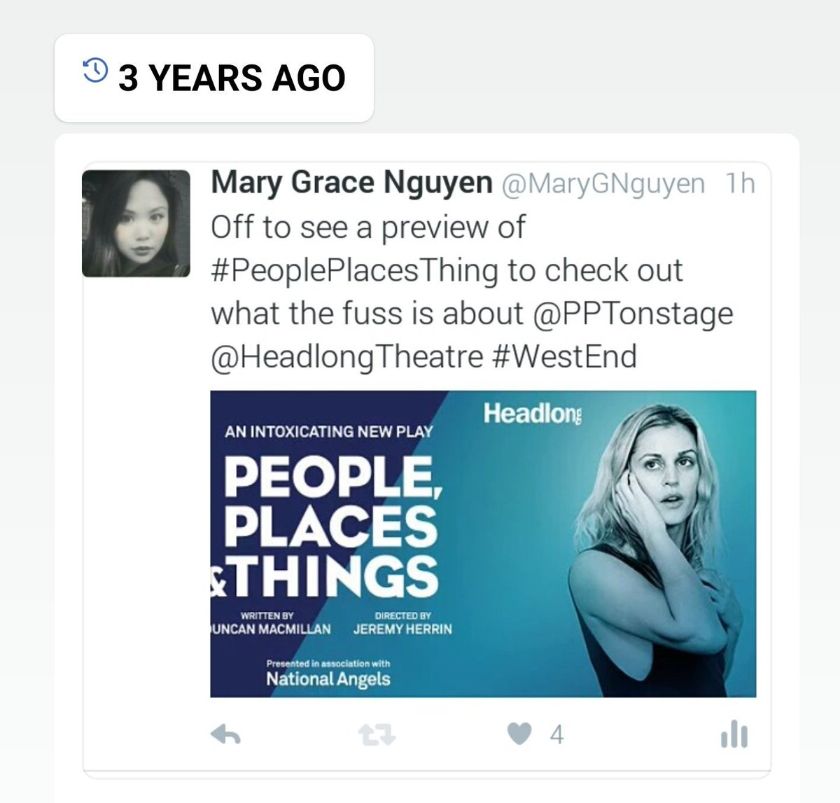 test Twitter Media - Major throwback! Who remembers this mind-blowing production? Hard to believe it was staged THREE years ago. @HeadlongTheatre @PPTonstage #tbt https://t.co/rztBMsZmjK