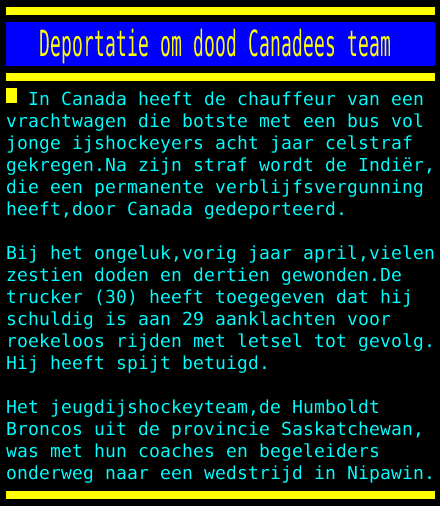 test Twitter Media - Deportatie om dood Canadees team https://t.co/xgU6hWAcWW
