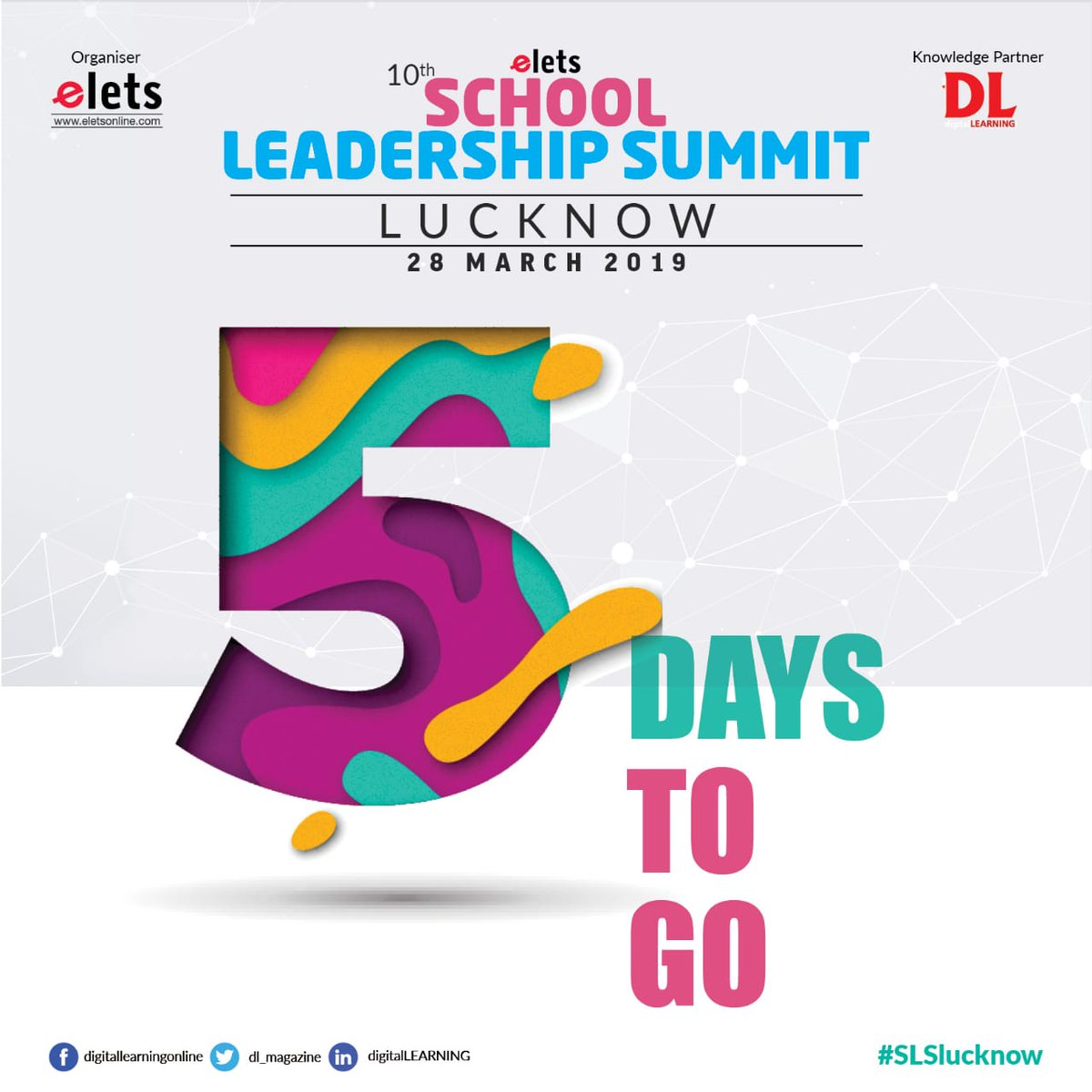 test Twitter Media - 5 DAYS TO GO!!!  Be a part of 10th School Leadership Summit to know about the latest and most innovative practices of School Education. The event is going to be organised on March 28, 2019.  #education #Schooleducation #SLSlucknow  @eletsonline @chandananand26 @dubeyashutosh79 https://t.co/M3TpdT1PAg