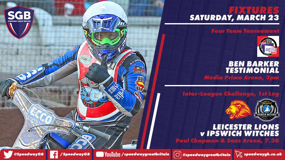 RT @SpeedwayGB: THE 2019 campaign continues this Saturday with one afternoon and one night fixture... https://t.co/AkMNpi2uGg