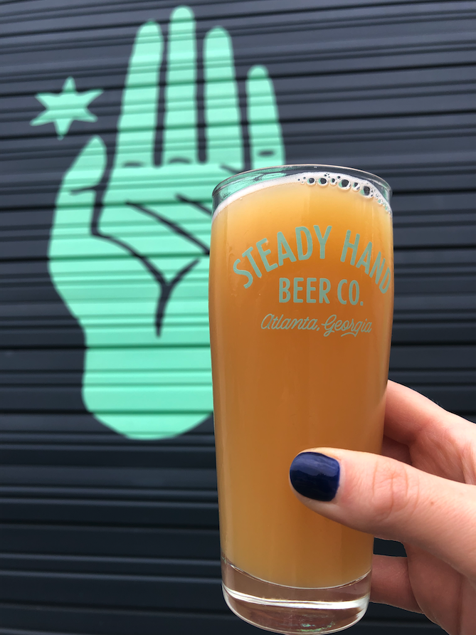 What a beautiful day to hit up #Atlantas newest #brewery, <a href=https://twitter.com/steadyhandbeer target=blank>@steadyhandbeer</a> 🌞 #tasteofatlanta <a href=https://t.co/4wMLiGJvCL target=blank>https://t.co/4wMLiGJvCL</a>