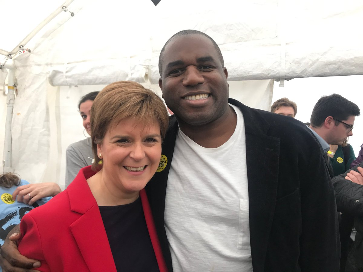 Me and my favourite Labour politician @DavidLammy at the #PutitothePeople rally (we even share a birthday) https://t.co/bMhBOsiyQZ