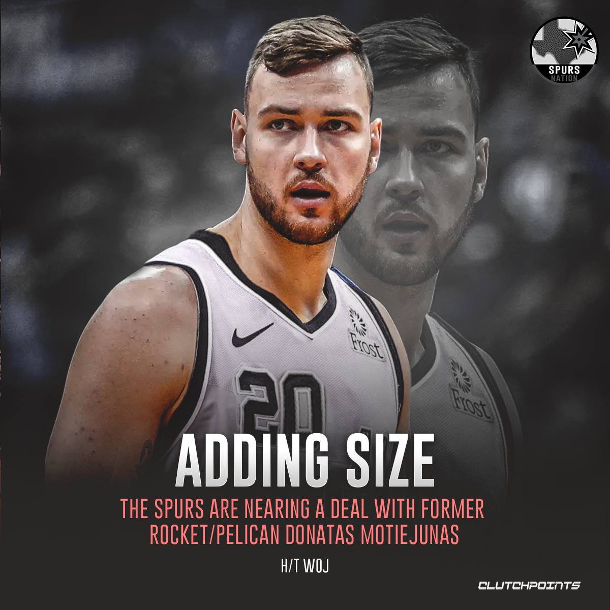 RT @SpursNationCP: The Spurs are adding some much-needed size in the frontcourt.  #Spurs #Gospursgo https://t.co/U7aVQSdIv3