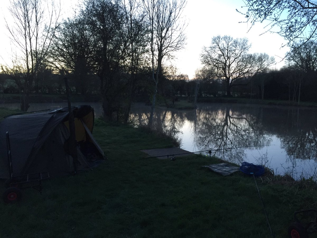 Sitting at the bank side with a cuppa watching the sum come up #carpfishing #fishing #fishinglife ht