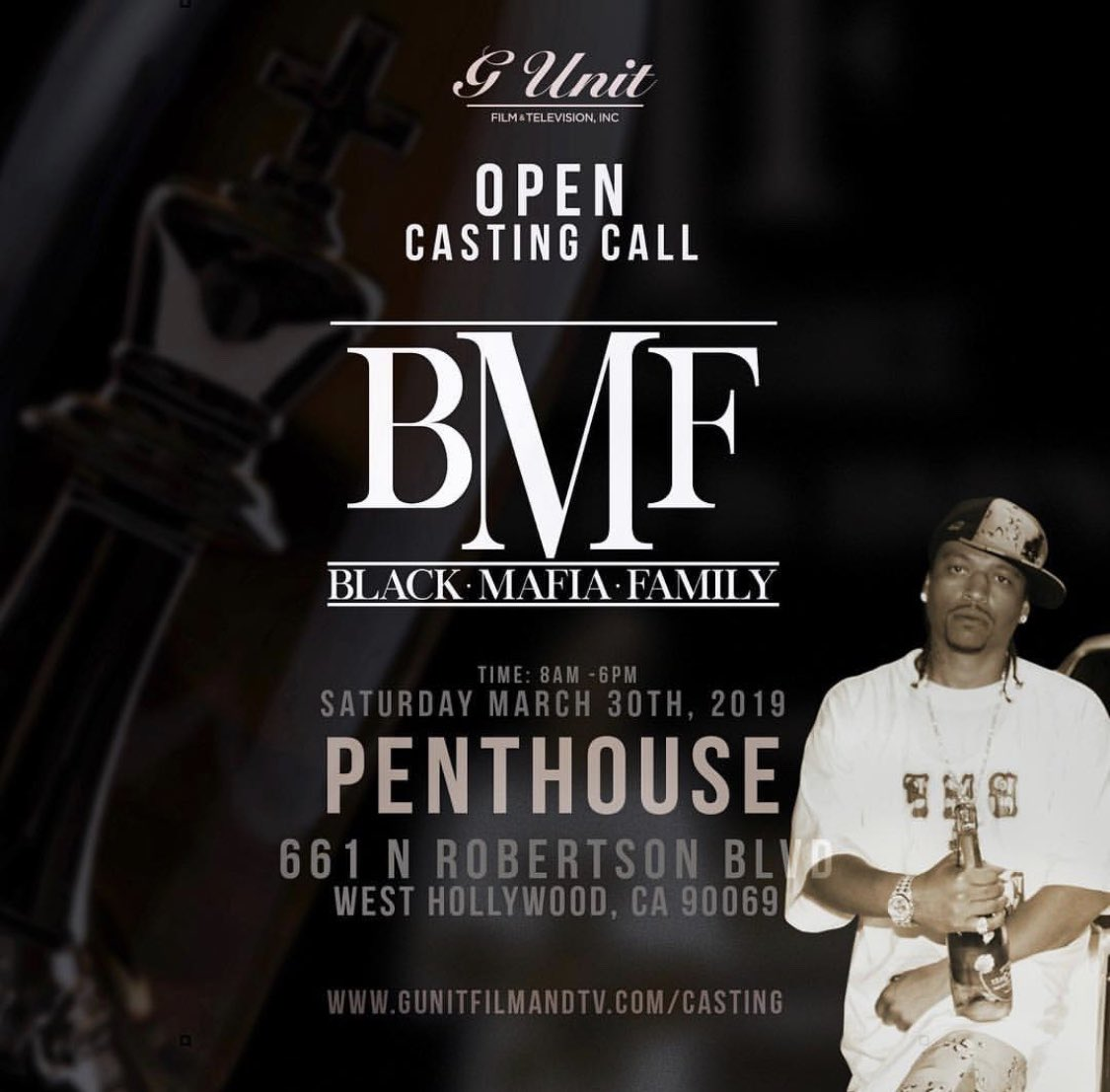 It's the The BMF takeover In LA sat, march 30th open casting call. #lecheminduroi #bransoncognac https://t.co/BecTlkxwdX