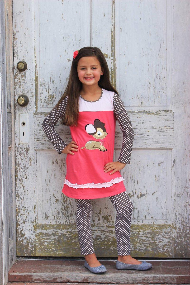 Heather Hill - Girls Deer Applique Dress & Pant Set USD 38.00 https://t.co/hmw8NEFcdG https://t.co/7g9hJVWCEp