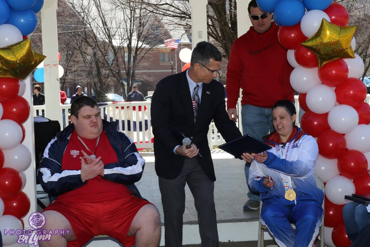 Congratulations to Matt Anthony and Delina Rodrigues! I was honored to be a part of their Special Olympics gold medal celebration yesterday. What a great day for the city of Palmerton, Carbon County, and Pennsylvania. Matt and Delina, you have made us all very proud!