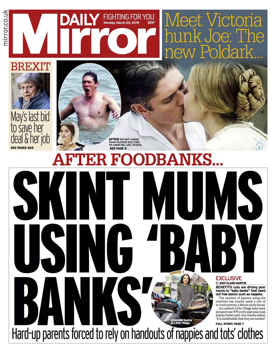 RT @BBCHelenaLee: Daily Mirror: After foodbanks ... skint mums using 'baby banks' #tomorrowspaperstoday https://t.co/Ac1sL6kbTt