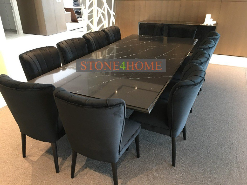 test Twitter Media - Beautiful Marquina marble Quartz Dining Table, made for a very famous footballer. Stunning chairs to complement. https://t.co/CRoTl4tTFV
