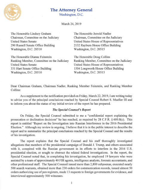 """test Twitter Media - (THREAD) The already-infamous """"Barr Letter"""" is a deeply dishonest and misleading document that richly deserves methodical public evisceration by committed journalists. So I hope you'll read on and retweet this """"live"""" dismantling of the Trump-Russia probe's worst political hitjob. https://t.co/0alm81Ol28"""