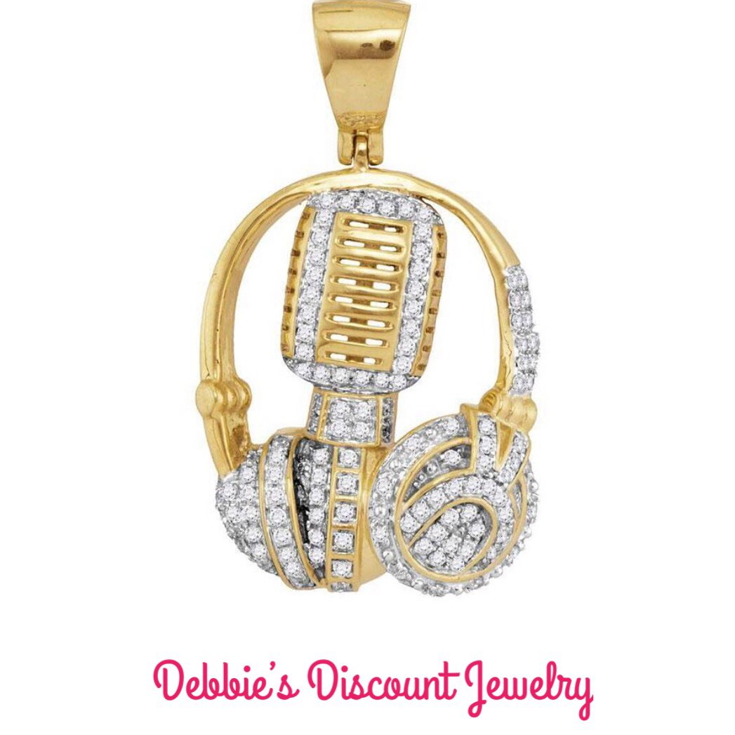 test Twitter Media - 🎼 10kt Yellow Gold Mens Diamond Mic/ Headphone/Dj Music Pendant 1.00 Cttw. Save 15% off now with Promo code SPRINGSALE  #giftsforhim #fathersday #musicpendant #menspendants #yellowgold #diamonds #discountjewelry #qualityjewelry https://t.co/O5tqjVIS2h