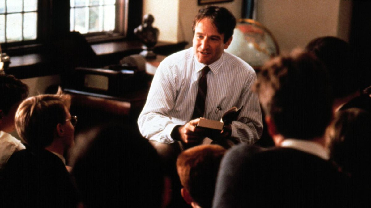"""Carpe diem. Seize the day, boys. Make your lives extraordinary."" - John Keating #DeadPoetsSociety https://t.co/2shrgORMw8"