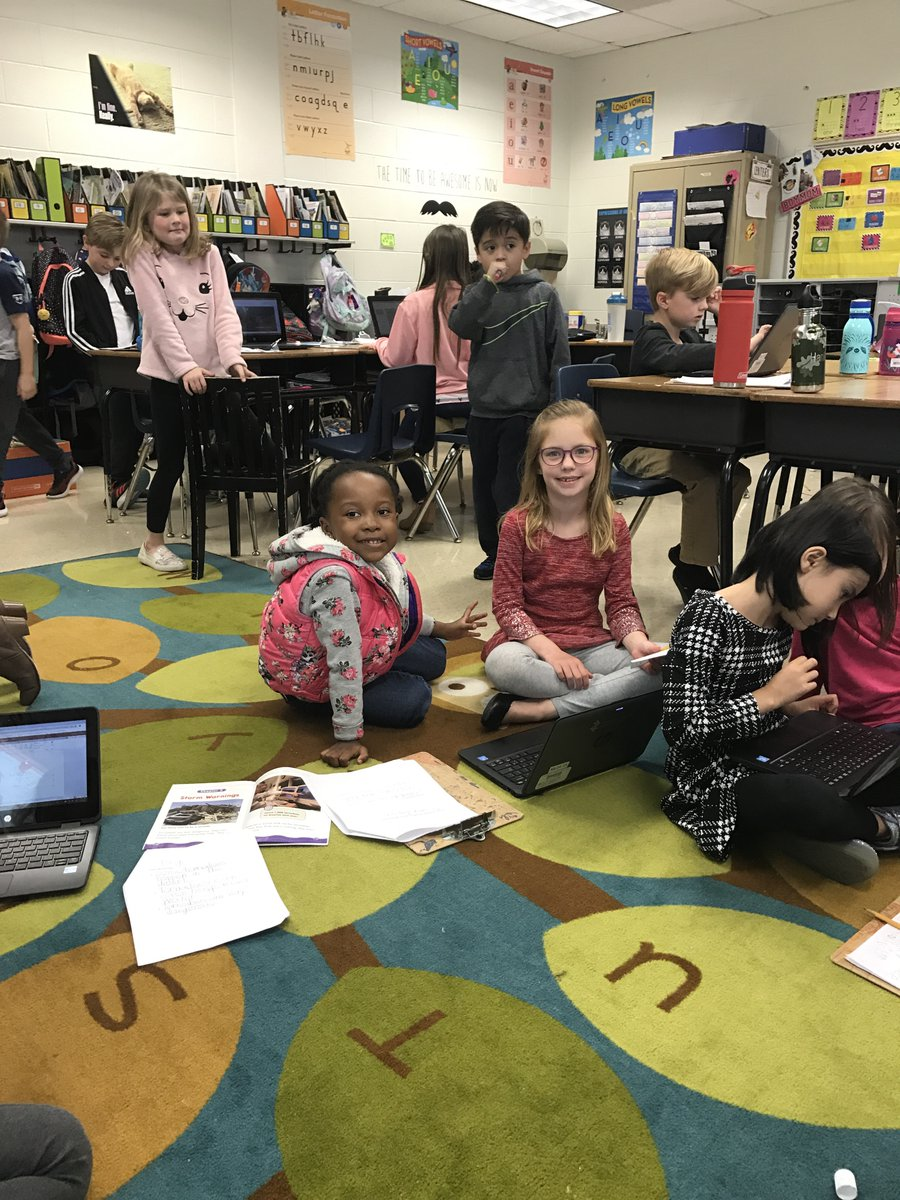 test Twitter Media - Mrs. Morgan and Mrs Scharich's 1st grade classes completed a blended learning project today. They used their RCD research on weather to create a PowerPoint on O365! #1wildcatnation @blendcherokee@MSPowerPoint https://t.co/QLZR5prE86
