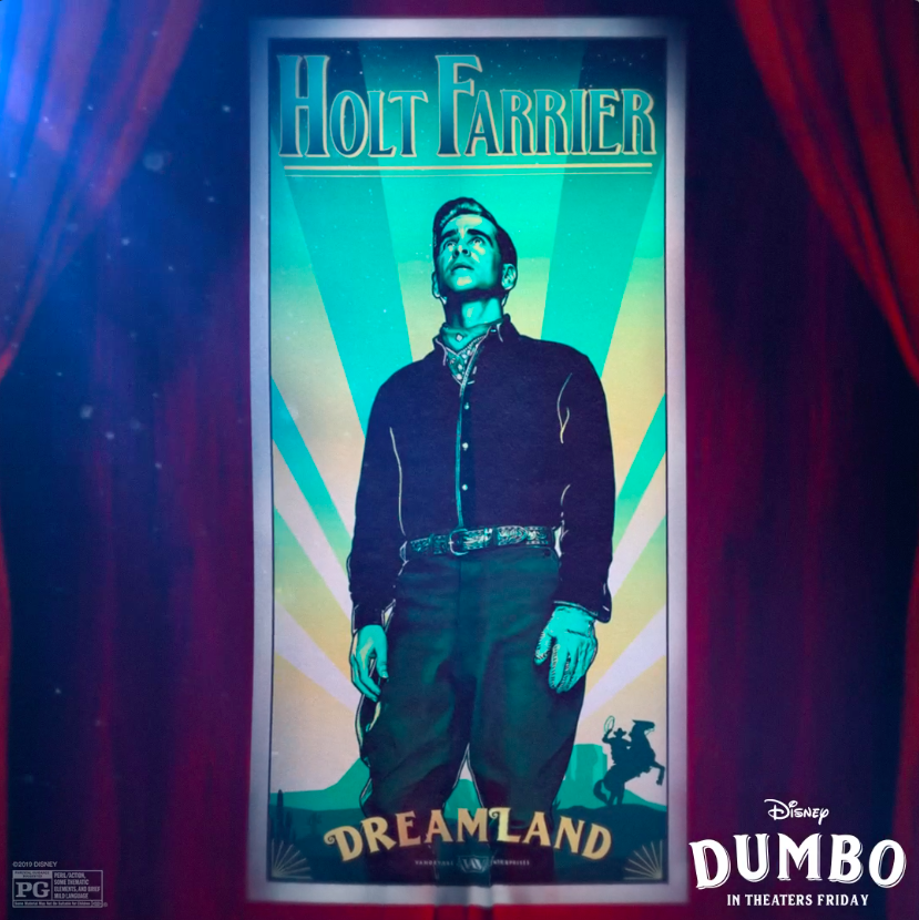 RT @Dumbo: Colin Farrell is The Hero. Meet Holt Farrier in #Dumbo, in theaters tomorrow. https://t.co/WvTxbf0GTp