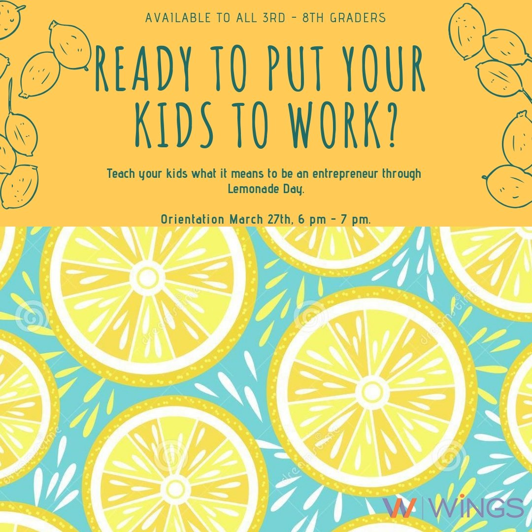 test Twitter Media - It's never too early to teach your kids what it takes to own a business. Lemonade Day does just that by educating kids on the ins and outs of entrepreneurship through the running of their very own lemonade stand. Orientation is today, so sign up! https://t.co/137Bn8byjm https://t.co/77dPseXYUQ