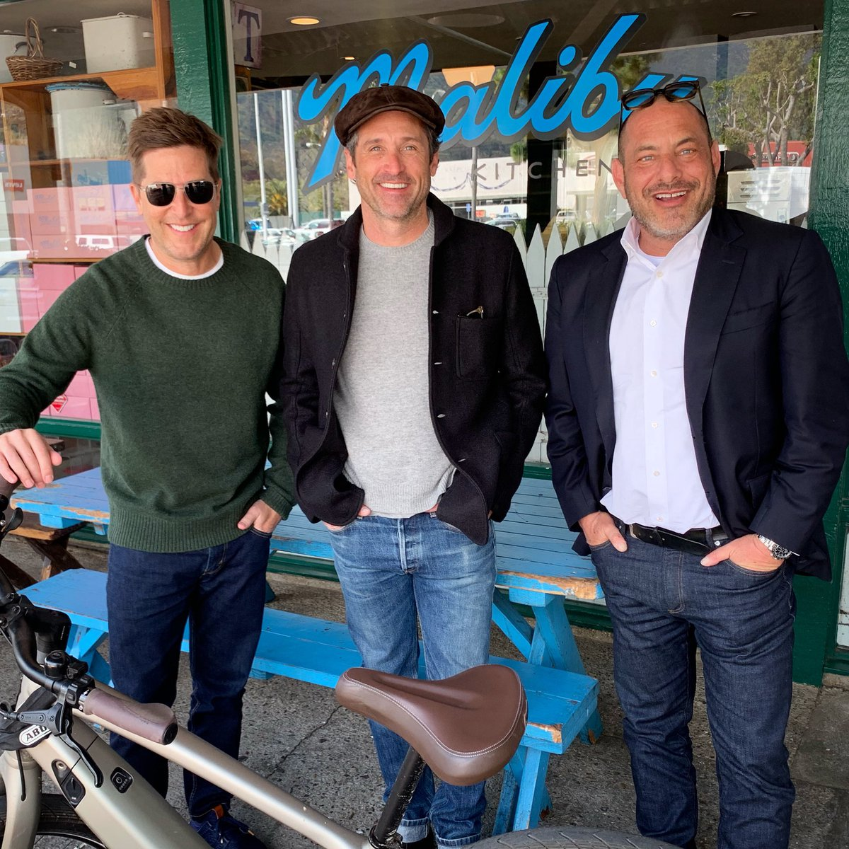 """Actor Patrick Dempsey hangs out with Spike and Z on the porch in Malibu to talk about his new documentary, """"Hurley"""", about racing legend Hurley Haywood.  #scr"""