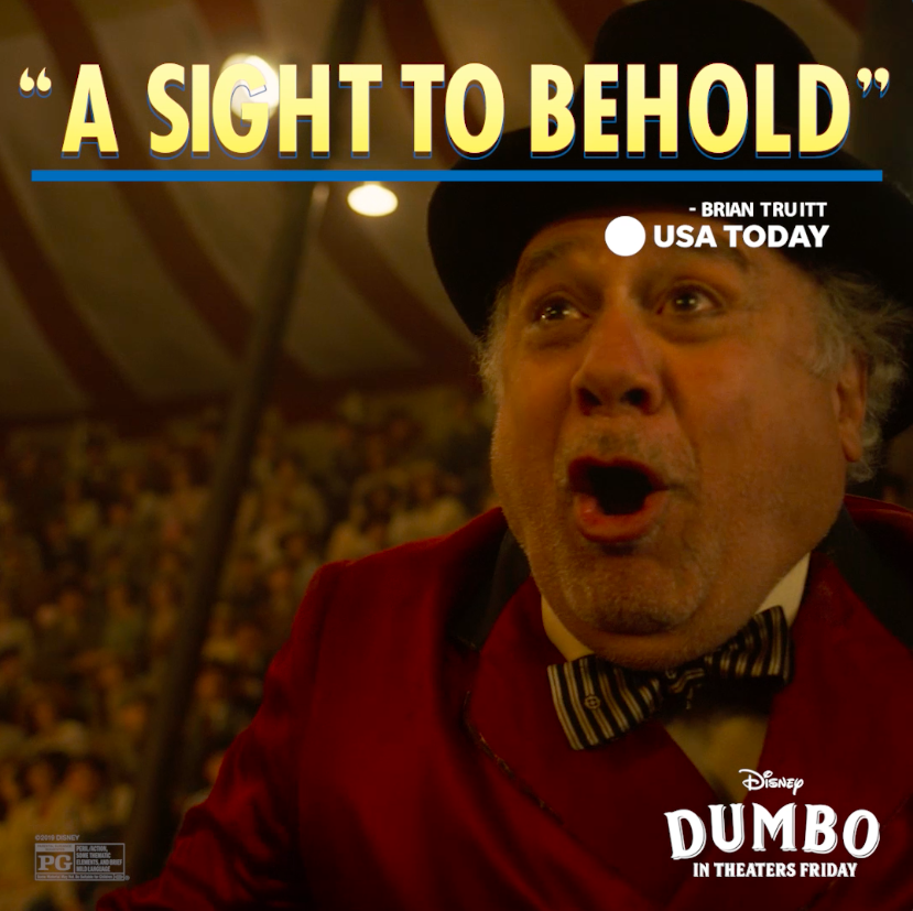 "RT @Dumbo: #Dumbo is ""a sight to behold."" See the film in theaters tomorrow! https://t.co/Sa1zuslEUv"