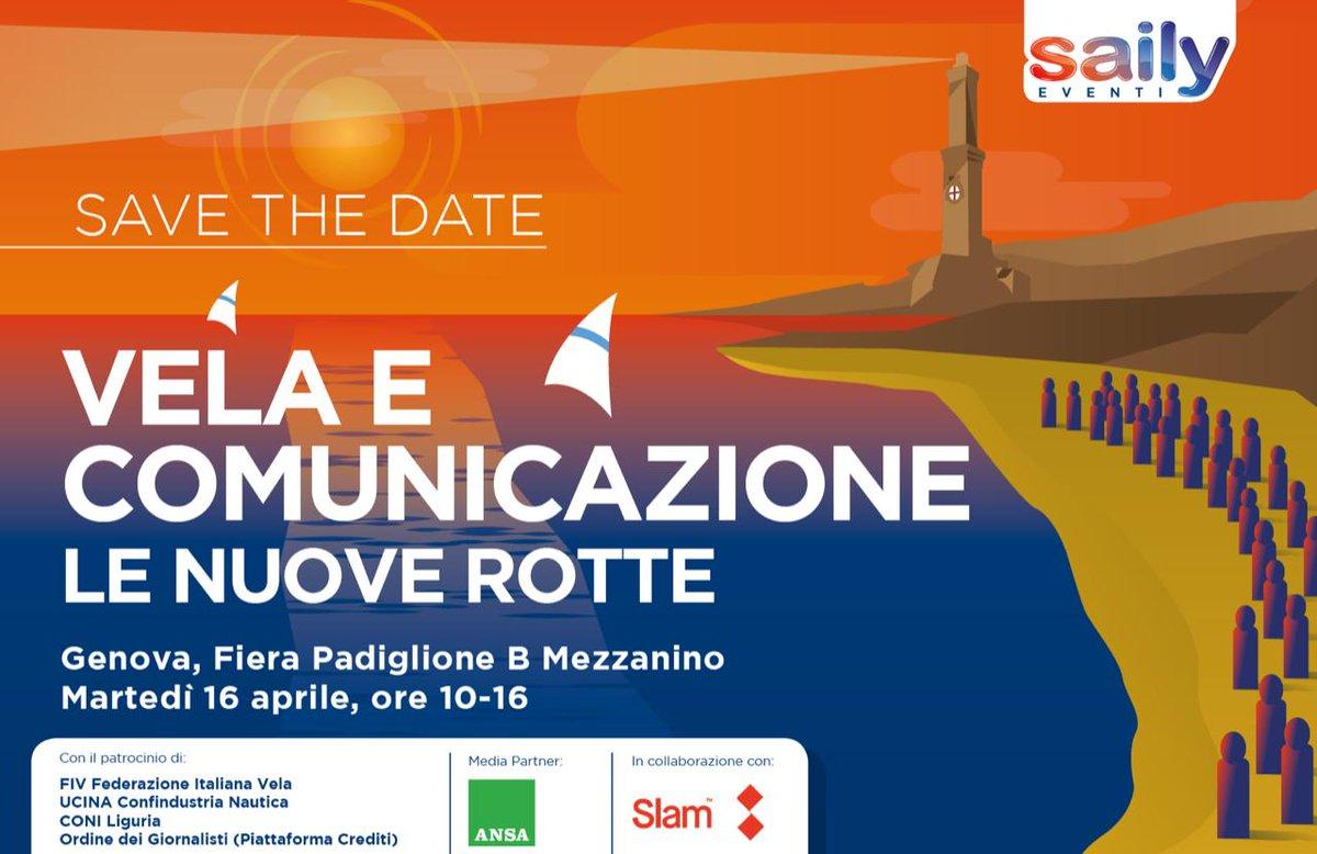 test Twitter Media - #SaveTheDate  #Genova Martedì 16 Aprile 2019  Vela e Comunicazione   #Saily #Ucina #Slam #FIV #Coni #ANSA https://t.co/FDQr9kgnph