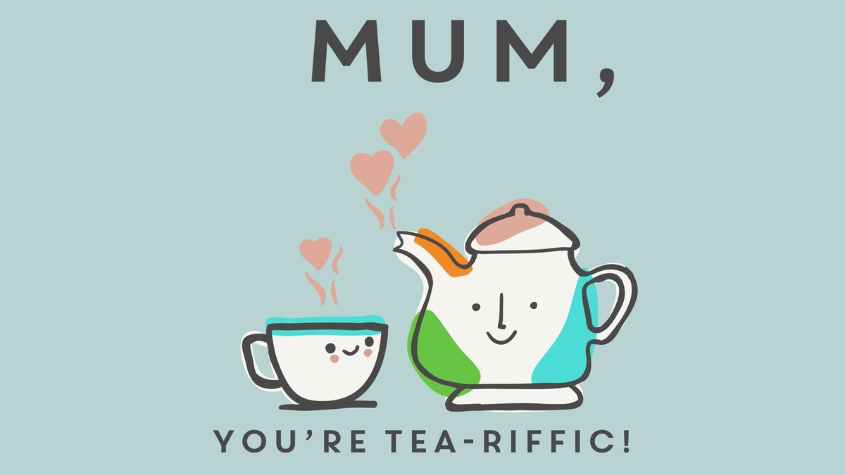 Tea-he-he-he ???? Let your Mum know this #MothersDay...❤️ https://t.co/dJuzMy1YDT