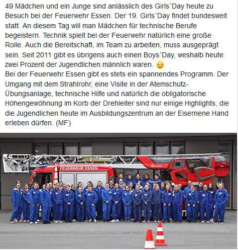 Girls´Day 2019 bei der Feuerwehr @feuerwehressen https://t.co/LQ9eLf9CU3