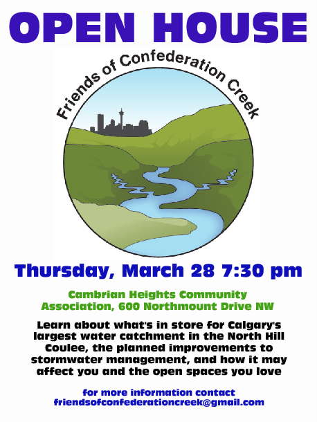 test Twitter Media - I hope folks in NW Calgary are coming out tonight to learn what @cityofcalgary has planned for the @ConfedCreek catchment -- Water Resources reps & @FOCCAssociation will be there to answer qns abt the Confed Drainage Study: #stormwater #flooding #wetlands https://t.co/l3qBm1vVa9 https://t.co/xGs6bu9cFX