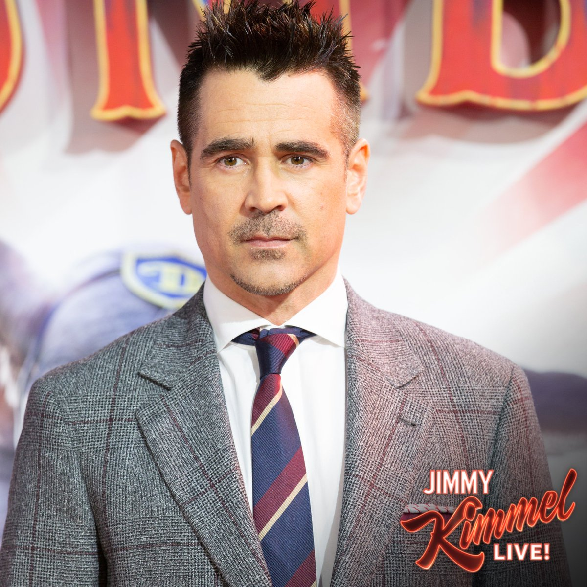 RT @Dumbo: Tune in to @JimmyKimmelLive tonight at 11:35 |10:35c to see Colin Farrell, star of #Dumbo! https://t.co/nUkDvRZQFi